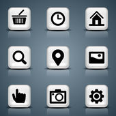 Vector icons for mobile apps or web sites — Stock Vector