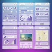 Элементы пользовательского интерфейса для мобильных приложений — Cтоковый вектор