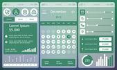 Set of flat design ui elements — Stock Vector