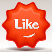 Like sticker — Vector de stock