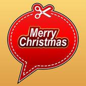 Merry Christmas speech bubble. — Stock Vector