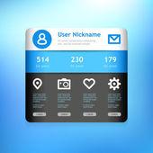Widget profile for social media. — Stock Vector