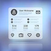 Mini widget — Stock Vector
