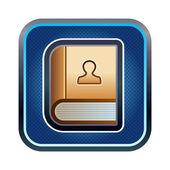 Icono de cuaderno — Vector de stock