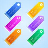Färgglada alternativ banners — Stockvektor