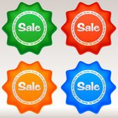 Sale stickers set. — Stockvector