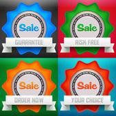 Set di adesivi vendita — Vettoriale Stock