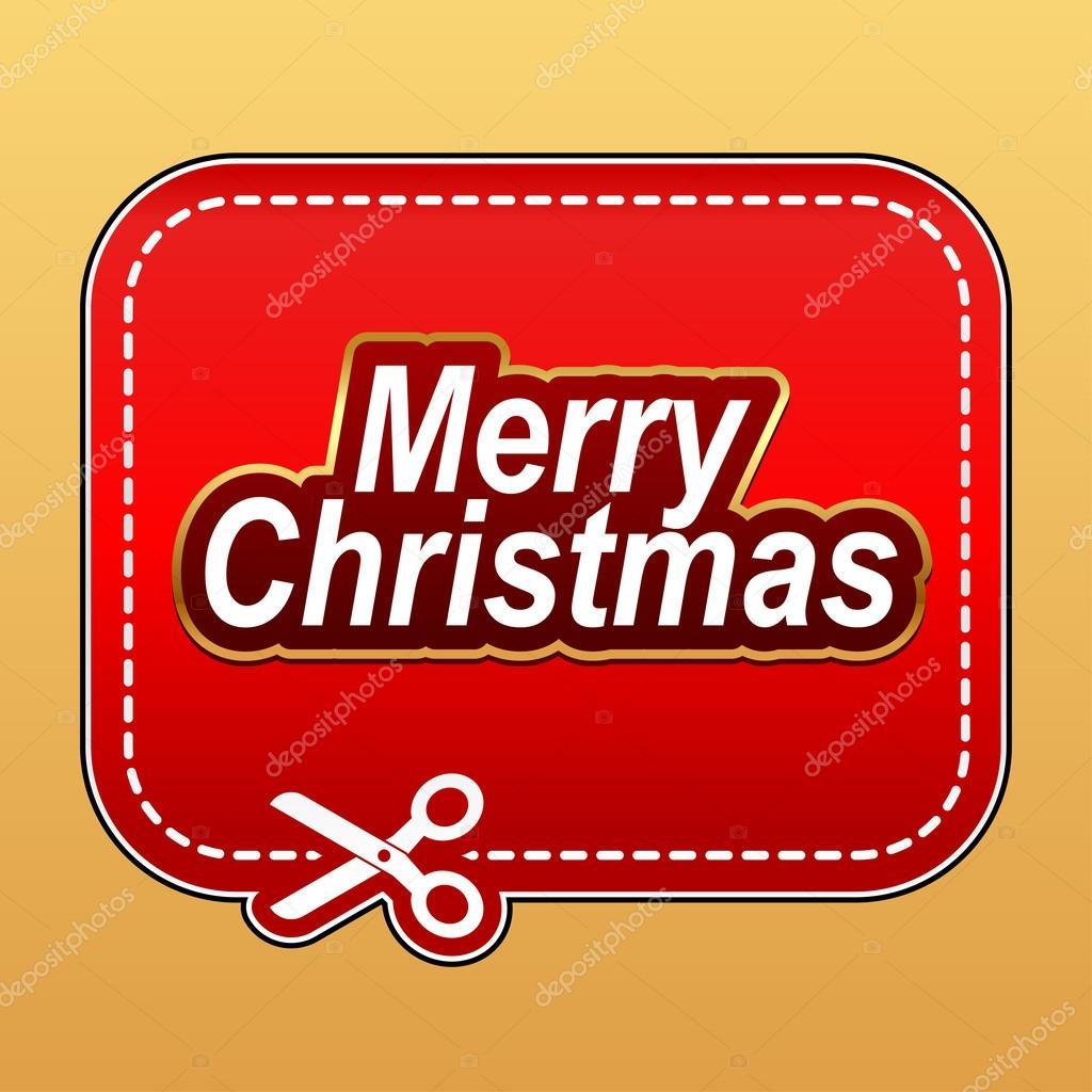 merry christmas coupon stock vector © yesman 35398209 merry christmas coupon red advertising sticker vector by yesman