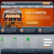Halloween Website — Stockvektor
