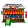 Illustration of store — Stockvectorbeeld