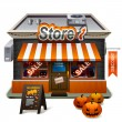 Halloween store — Stock Vector