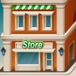 Stock Vector: Store facade icon