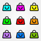 Shopping bag icon set — Stock Vector