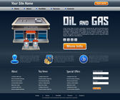 Site about oil and gas — Wektor stockowy
