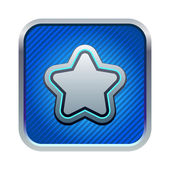 Blue star icon — Stock Vector