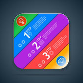 Progress steps icon — Vector de stock