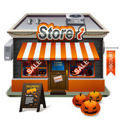 Halloween store — Vector de stock
