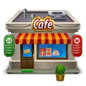 Coffee-shop-shop oder café — Stockvektor