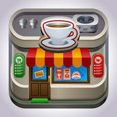 Coffee shop store or cafe — Vector de stock