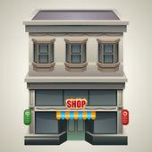 Магазин или кафе — Cтоковый вектор