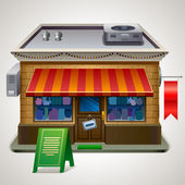 Illustration of small store. — Stock Vector
