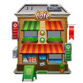 Coffee shop store or cafe — Vector de stock