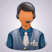 Customer service operator — Stock Vector