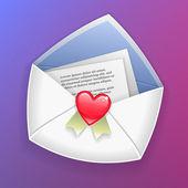 Valentijn envelop — Stockvector