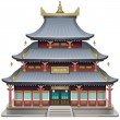 Buddhist temple — Vector de stock #41500229