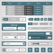 Stock Vector: Flat ui web elements and icons