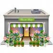 Stock Vector: Flower Shop