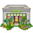 Stock Vector: Flower shop icon