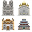 Stock Vector: Religious buildings