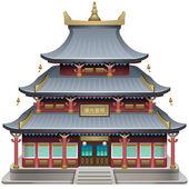 Buddhist temple — Stock Vector