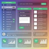 Flat Mobile UI Design — Stock Vector