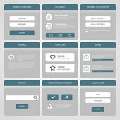 Flat Mobile UI Design. — Stock Vector