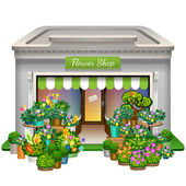 Flower shop icon — Stock Vector