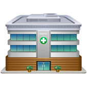 Hospital building — Stock Vector