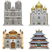 Religious buildings — Stock Vector