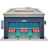 Icono de la fachada de una tienda. — Vector de stock