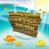 Summer holidays — Vector de stock