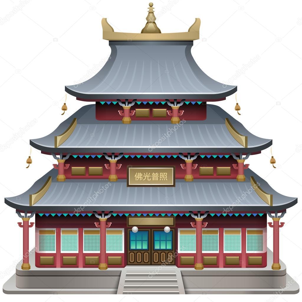 Buddhist temple  Vecto...