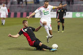 Honved vs. DVSC OTP Bank League match — Stock Photo