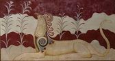 Painting in Knossos — Stock Photo