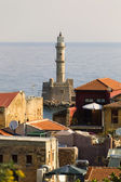 Light tower in Chania — Stock Photo