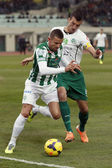 Ferencvaros vs. Gyori ETO OTP Bank League football match — Stock Photo