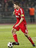 Debrecen vs. Liverpool football game — Stock Photo