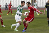 Ferencvaros vs. Debreceni VSC OTP Bank League football match — Stock Photo