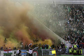 Ferencvaros vs. Debreceni VSC OTP Bank League football match — Stock Photo
