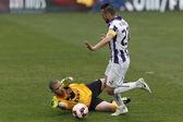 Ujpest vs. DVTK OTP Bank League football match — Stock Photo